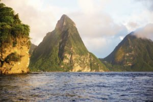 St Lucia mountains view