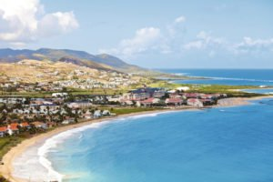 St Kitts' beach view